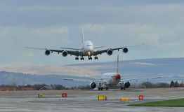 酋长管辖区空中客车A380 免版税库存图片