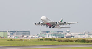 A380 Airbus Manchester Imagens de Stock Royalty Free