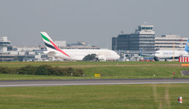 A380 Airbus Manchester Imagem de Stock Royalty Free
