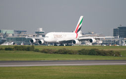 A380 Airbus Manchester Royalty Free Stock Photos