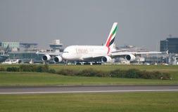 A380 Airbus Manchester Photos libres de droits