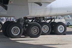 A380 aircraft landing gear Stock Image