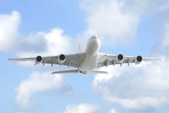 A380 in blue sky Royalty Free Stock Photo