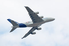a380 demonstracja lot Obraz Royalty Free
