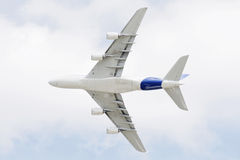 A380 flying over Royalty Free Stock Photo