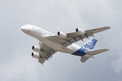 a380 flypast Airbus Obraz Stock
