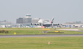 A380 Luchtbus Manchester Stock Foto's