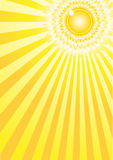 a4太阳阳光 库存例证