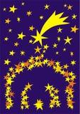 a4 αστέρια φατνών Διανυσματική απεικόνιση