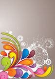 A4_colorful_background Lizenzfreies Stockbild