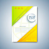 现代模板布局小册子、杂志、飞行物、小册子、盖子或者报告在A4大小您的设计的 也corel凹道例证向量 免版税图库摄影