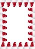 A4 de hoedengrens van de Kerstman met het knippen van wegen royalty-vrije stock afbeeldingen