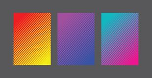 A4 Fading Line Pattern Background Set Royalty Free Stock Photography