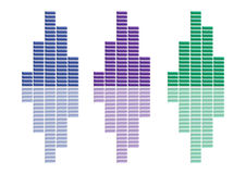 A4 Graphs Collection. There are three graphs, on a white background Royalty Free Illustration