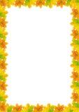 a4 jesień ramy liść Obraz Stock