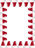 A4 Santa hat border with clipping paths Royalty Free Stock Images