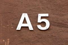 A5 Imagem de Stock