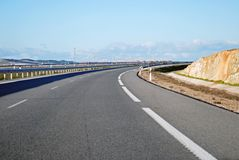 A6 Highway Curve Royalty Free Stock Photos