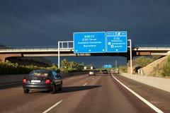 A7 carretera España Foto de archivo libre de regalías