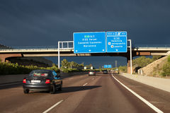 A7 huvudväg Spanien Royaltyfri Foto