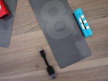AA电池类型 内部细节和特写镜头 库存图片