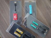 AA电池类型 内部细节和特写镜头 免版税库存图片