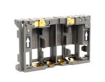 aa-adapterbatterier Arkivfoton