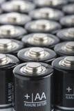 aa-akalinebatterier stänger sig upp Royaltyfri Fotografi