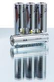 AA alkaliczne baterie LR6 Obrazy Stock