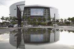 AA Arena with reflection in water Royalty Free Stock Photo