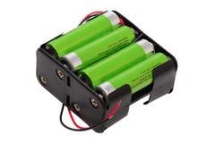 aa-batteriblock Arkivbilder
