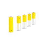 AA-Batterie-Nahaufnahme auf weißem Hintergrund Stockfoto