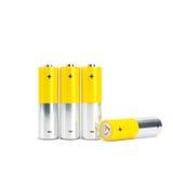 AA-Batterie-Nahaufnahme auf weißem Hintergrund Lizenzfreie Stockfotografie