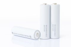 AA-Batterien über Weiß Stockbild