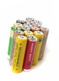 aa-batterier Arkivfoto