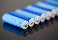 aa-batterier Arkivbilder