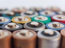 aa-batterier många Fotografering för Bildbyråer