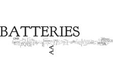 Aa Batteries Word Cloud. AA BATTERIES TEXT WORD CLOUD CONCEPT Royalty Free Stock Images