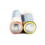 2 aa-batterijen Stock Fotografie