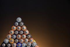 Aa-batterijen Royalty-vrije Stock Foto's