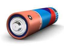 AA Battery. R6 size AA battery (3d render royalty free illustration
