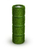 AA battery from grass with cells. Green energy concept stock illustration