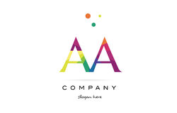aa a creative rainbow colors alphabet letter logo icon vector illustration