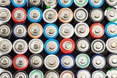 Aa-format för alkaliska batterier Arkivfoto