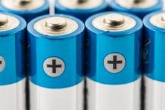 Aa-format för alkaliska batterier Arkivfoton