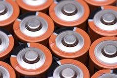 Aa-format för alkaliska batterier Arkivbilder