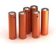 Aa-groottebatterijen Stock Foto