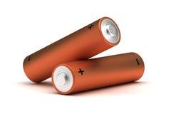 Aa-groottebatterijen Royalty-vrije Stock Foto's