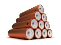 Aa-groottebatterijen Stock Foto's