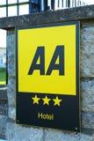 AA-Hotel-Bewertung Lizenzfreies Stockbild